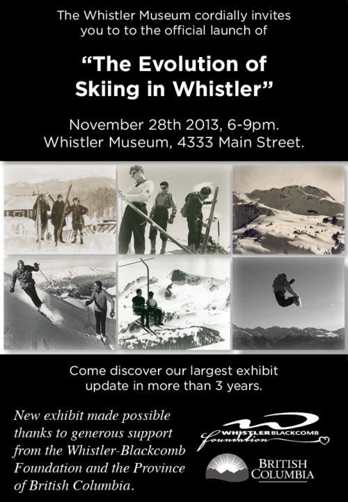 Whistler Museum Ski Exhibit Invitation