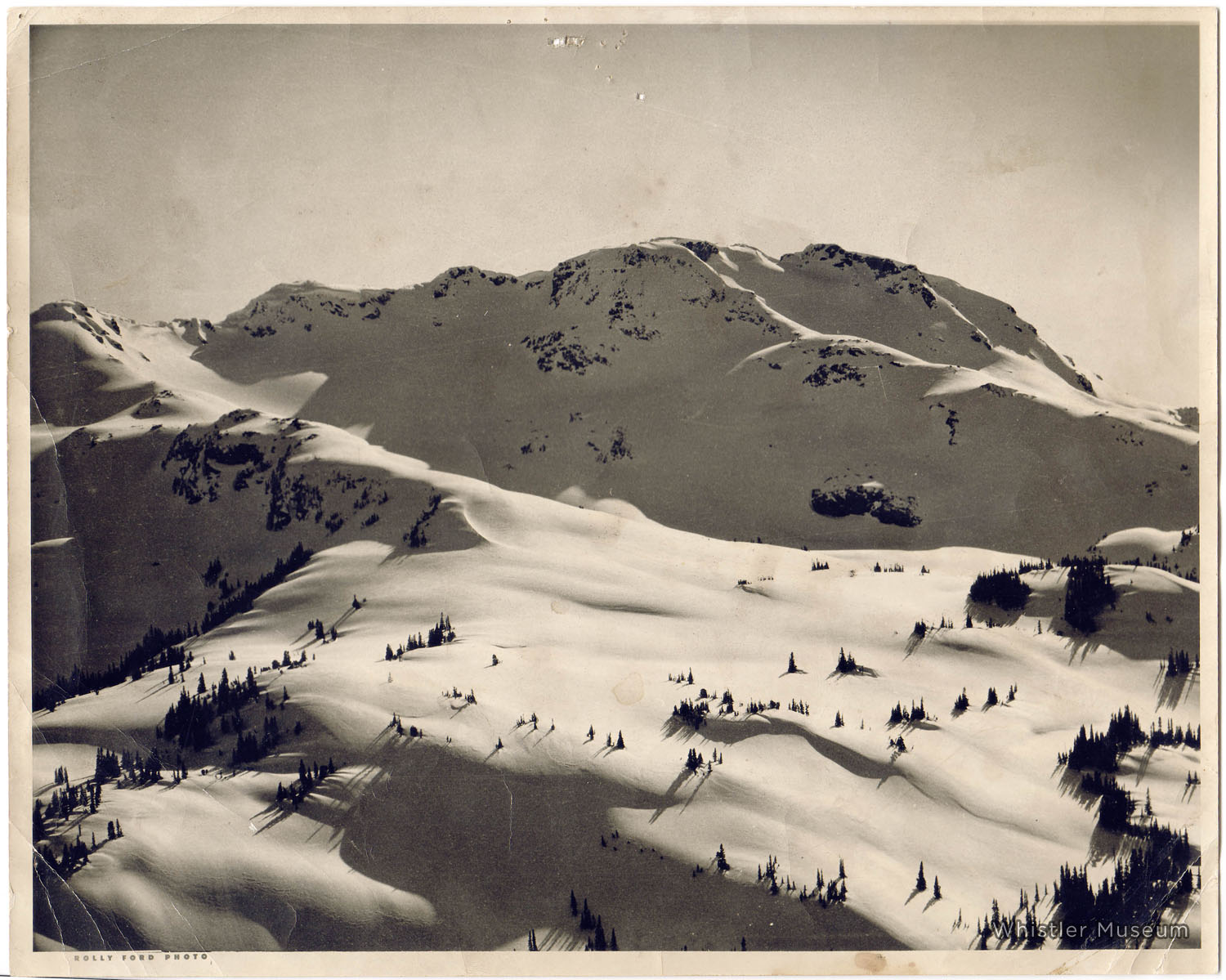 Whistler Mountain in the early 1960s, before backcountry became frontcountry. Sure, the chairlifts, groomer, gondolas, lodges, snowmaking and so on have been great, but doesn't this look like paradise?