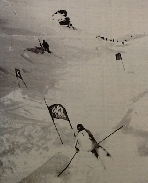 Andrea Marchland. Fastest woman at the Saudan Couloir Race in 1992
