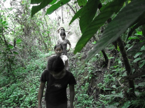Exploring the Peruvian Amazon. Photo: Arno Kopecky
