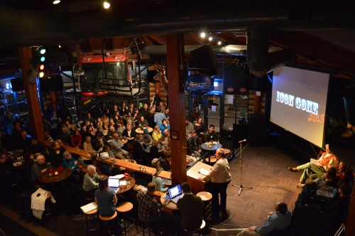 A packed Merlin's, an iconic Whistler watering hole itself, was the perfect venue for another Icon Gone throwdown.