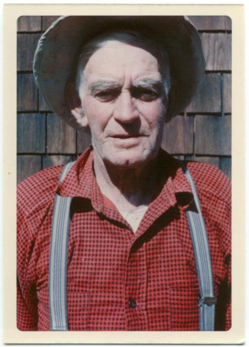 Myrtle's brother Phil Tapley, looking very much like a farmer.