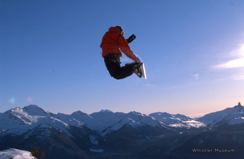 Snowboarding has progressed incredibly over the years, but has it gotten any better? Long-time Whistler pro rider Oliver Roy, late 1990s. Photo: Greg Griffith/Whistler Museum Archives.