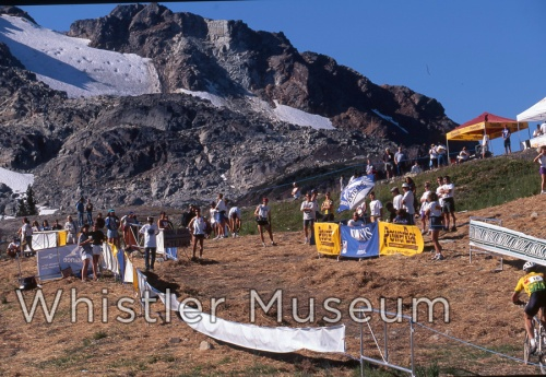 An early x-country race on Whistler Mountain, early 1990s.