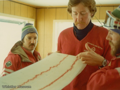 Just for fun we figured we'd throw in this photo of Roger and Bruce from their days as ski patrollers for Whistler Mountain. Evidently Roger's moustache had more staying power than Bruce's.