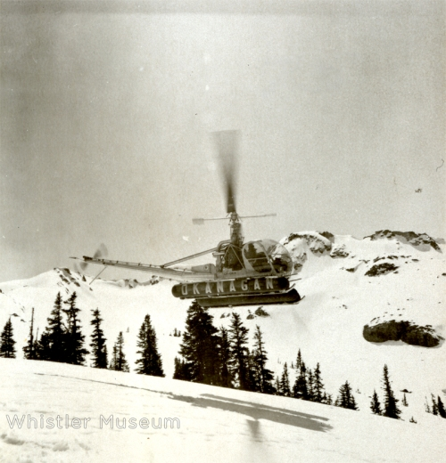 Touring around the Whistler Mountain alpine, early 1960s.