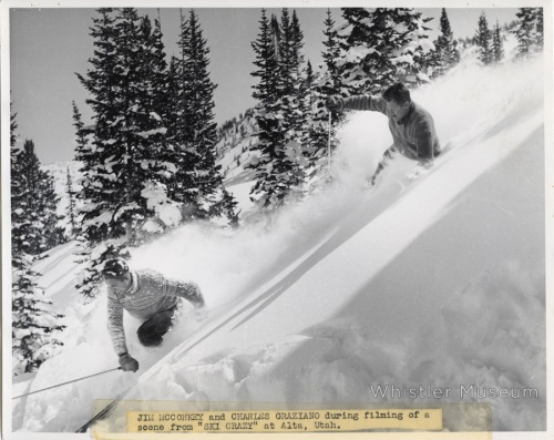 Before (and during ) his time in Whistler, McConkey made a name for himself as an early ski film star. Here he is enjoying some of Alta, Utah's famous champagne pow.