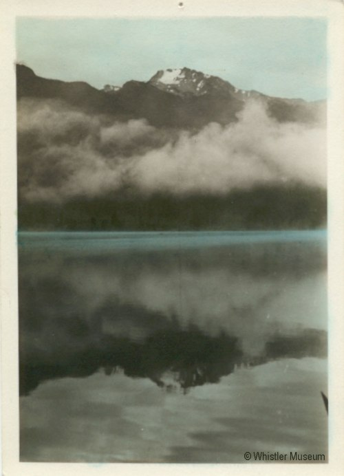 Whistler Mountain reflected in Alta Lake, ca. 1935. Philip Collection.