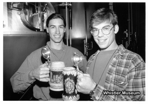 Brad Wheeler and Ben Schottle of the Whistler Brewing Company (1995)