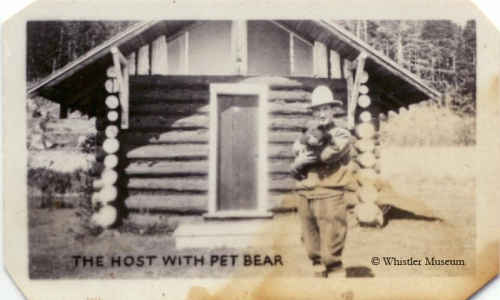 Alex Philip holds Teddy the bear, 1926. Philip Collection.