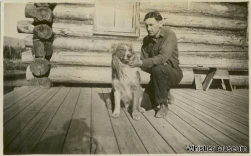 Alex Philip and his dog, ca. 1915. Philip Collection.