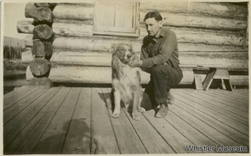 Alex Philip and his dog, ca. 1915. Philip Collection.