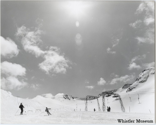 The T-bar - not what you might think. Whistler Museum, Whistler Mountain collection