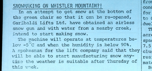 February 1977, Whistler Museum, Question collection.