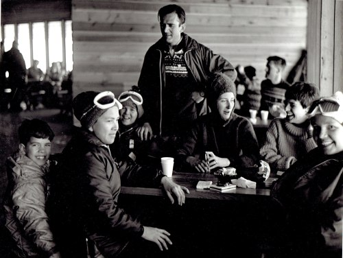 Tyrol Club members taking a break at the original Roundhouse. Notice the smokes on the table. Photo courtesy: John Preissl