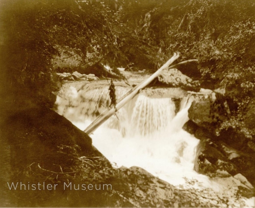 "Green River Falls in summer. Inscription on verso : ""Green River Falls 1918-19 taken by Myrtle Philip."