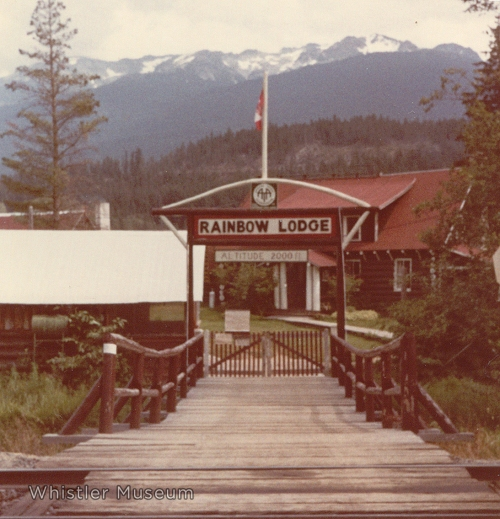 The entrance to Rainbow Lodge during the Greenwood's tenure.