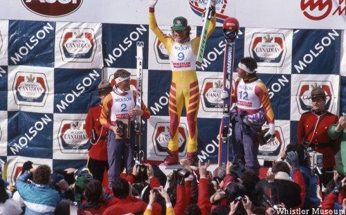 Local boy Rob Boyd atop the podium, 25 February 1989. Photo: Greg Griffith/WMAS.