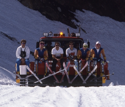 Canadian National Ski Team. Boyd is far right. Photo: Greg Griffith/WMAS.