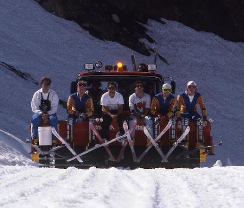 Canadian National Ski Team. Boyd is far right. Photo: Greg Griffith/WMAS.