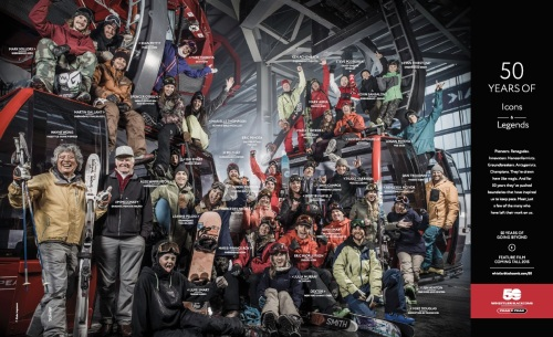 "The famous ""Legends & Icons"" image. Photo by Blake Jorgensen, courtesy Whistler-Blackcomb."