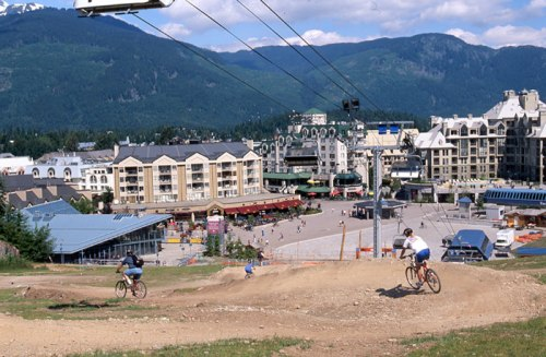 The Whistler Mountain Bike Park has come a long way since it's origins in the early 1990s. Greg Griffith Photo.