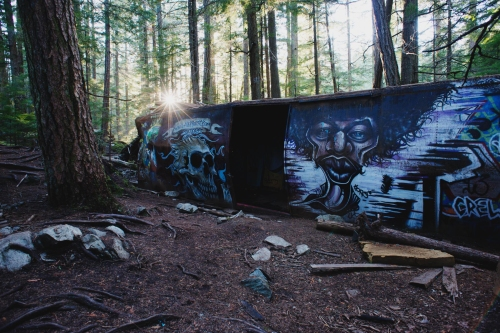 The abandoned box cars have been given new life by Whistler's artist community.