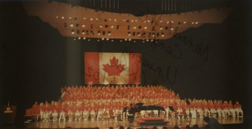 Unisong mass choir performing in the National Arts Centre, July 2001