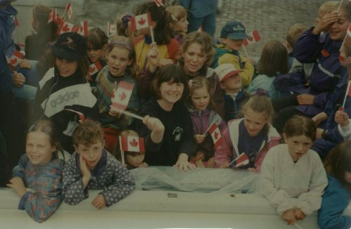 The Whistler Children's Chorus in the Canada Day Parade, 1997