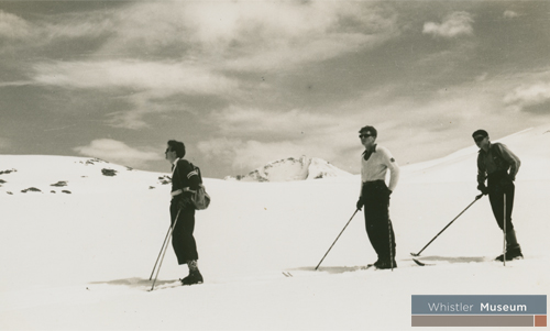 In May 1939 George Bury and three other skiers began a 10-day exploratory trip of the Garibaldi region.
