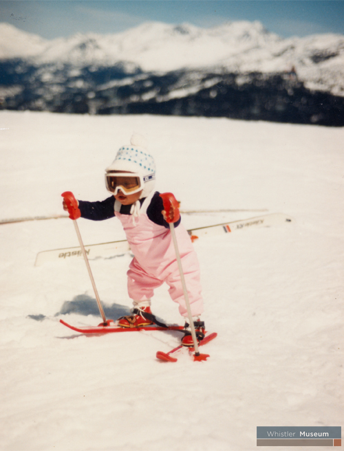 You can never be too young (or old) for skiing.