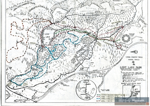 The trails around Lost Lake as proposed by the Alta Lake Sports Club in 1980.