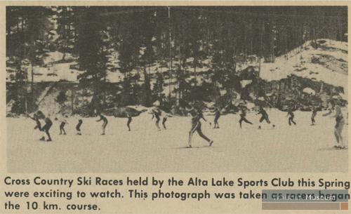 The Alta Lake Sports Club hosted various races through the 1970s and '80s.
