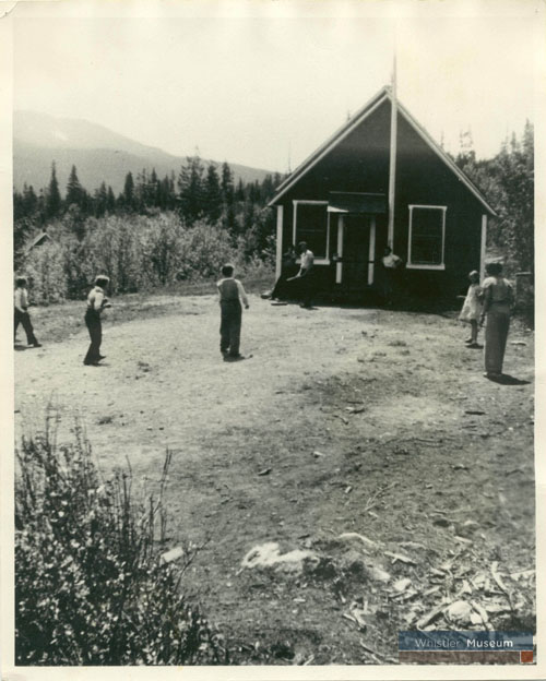 The original Alta Lake schoolhouse also served as the valley's first community movie theatre.